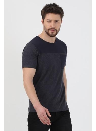 Slazenger Slazenger Benny Erkek T-Shirt Kiremit Lacivert
